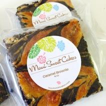 Caramel Swirl Brownies - Maui Sweet Cakes